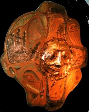 Copper wood sun