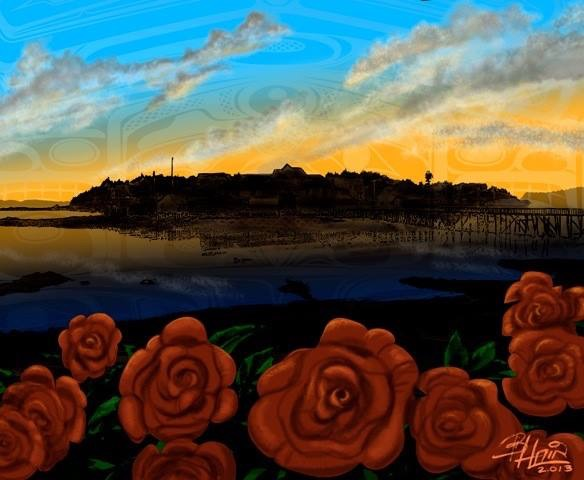 Rose Isl Painting