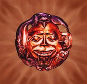 Sun mask bronz